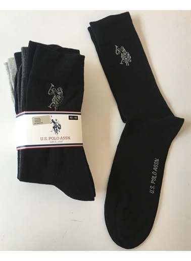 U.S.Polo Assn. 4 lü Çorap Siyah